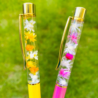 【替芯付き】お花いっぱい♡2本セット ペア☆ハーバリウムボールペン   (その他)