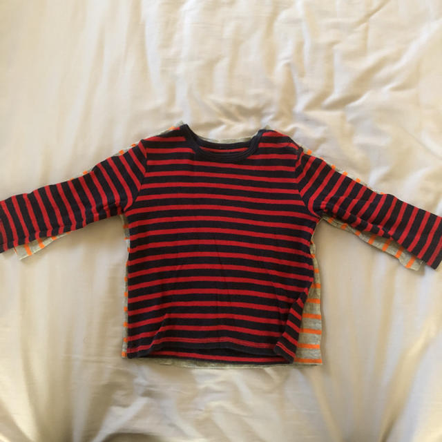 GAP(ギャップ)のユニクロ ギャップ ロンT まとめて3枚セット 80〜90 キッズ/ベビー/マタニティのベビー服(~85cm)(シャツ/カットソー)の商品写真