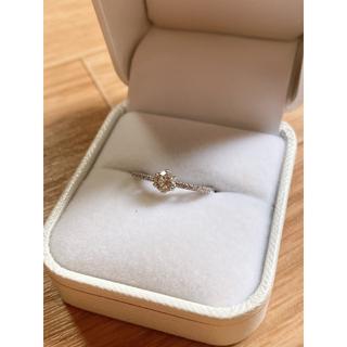 天然ダイヤモンドリング 0.330ct プラチナ ダイヤ鑑定書付き 本物(リング(指輪))