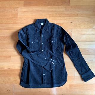 ダブルジェーケー(wjk)のwjk white tag コーデュロイシャツ ブラック(シャツ)