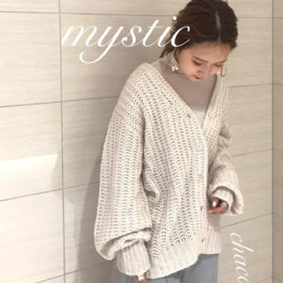 mystic - 新作⛄️¥8250【mystic】モヘア畦カーディガン
