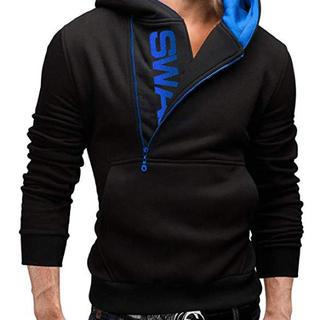 メンズ スウェット パーカー かっこいい 柔らかい 長袖 フード付き (パーカー)
