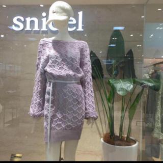 snidel - SNIDEL 完売 パターン ニット ワンピース