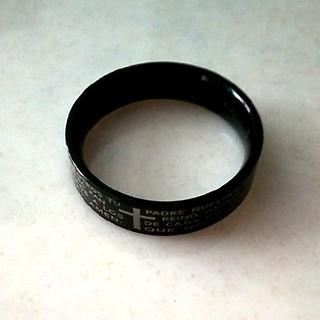 ブラッククロスリング チタン製(リング(指輪))