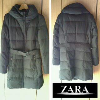 ザラ(ZARA)の未使用 ザラ ダウン コート 黒(ダウンジャケット)