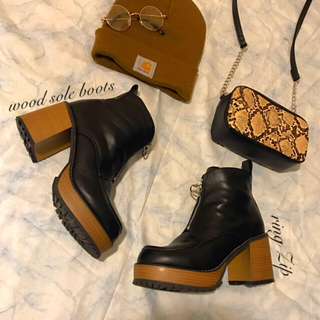 moussy - import♥︎ウッドソールboots♪美品