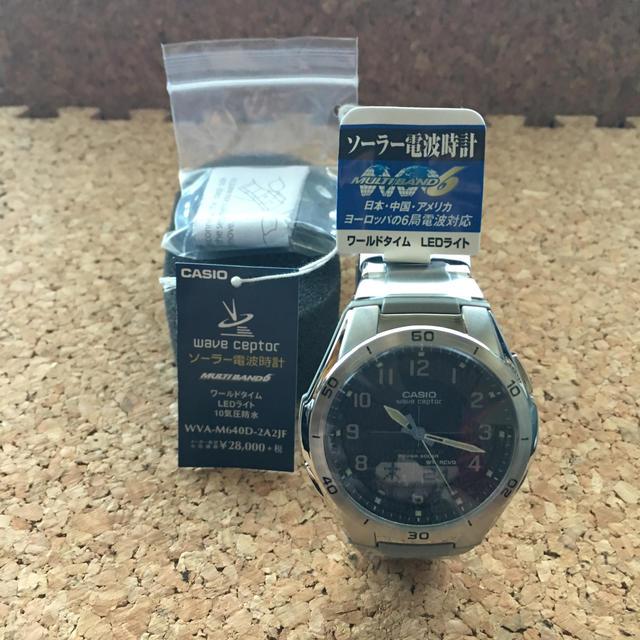 CASIO - 値下げ‼︎新品未使用 CASIOソーラー電波時計 WVA-M640D-2A2JFの通販