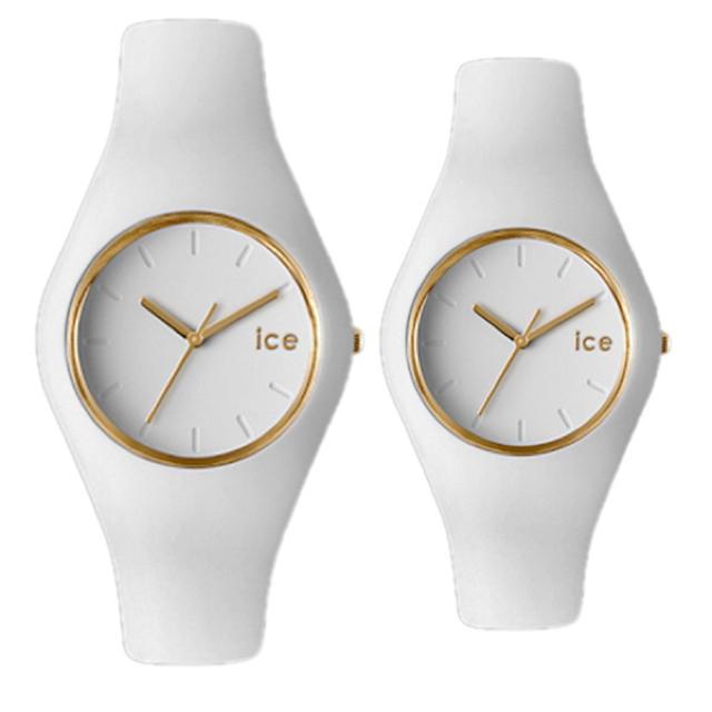 ice watch - ペアウォッチ アイスウォッチ I腕時計 アイスグラム クォーツ ホワイトの通販