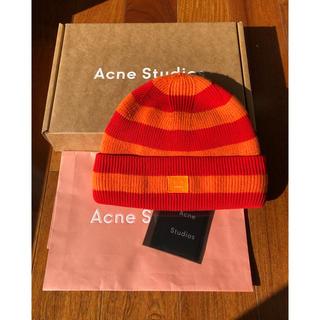 アクネ(ACNE)のAcne Studiosフェイスパッチ付きビーニー (ニット帽/ビーニー)