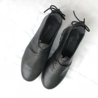 ワイズ(Y's)のY's KAYO NAKAMURA ワイズ シューズ レザー サイズ2 ブラック(ローファー/革靴)