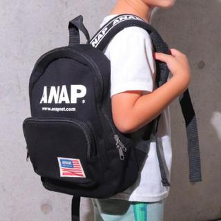 ANAP Kids - 新品 ANAPKIDS☆ロゴ リュック 黒 バッグ アナップキッズ