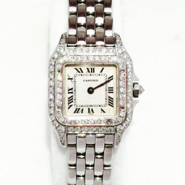 腕 時計 50万 | Cartier - 新品仕上げ済!カルティエ パンテールSM 2重ダイヤモンド ベゼルの通販 by 極楽蝶's shop