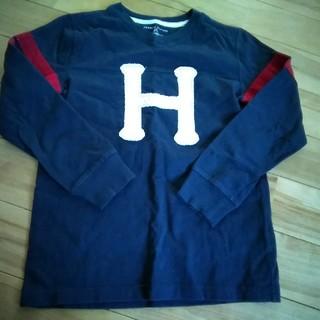 トミーヒルフィガー(TOMMY HILFIGER)の中古 TOMMY HILFIGER キッズ 6~7歳 厚手 ロングT ネイビー(Tシャツ/カットソー)