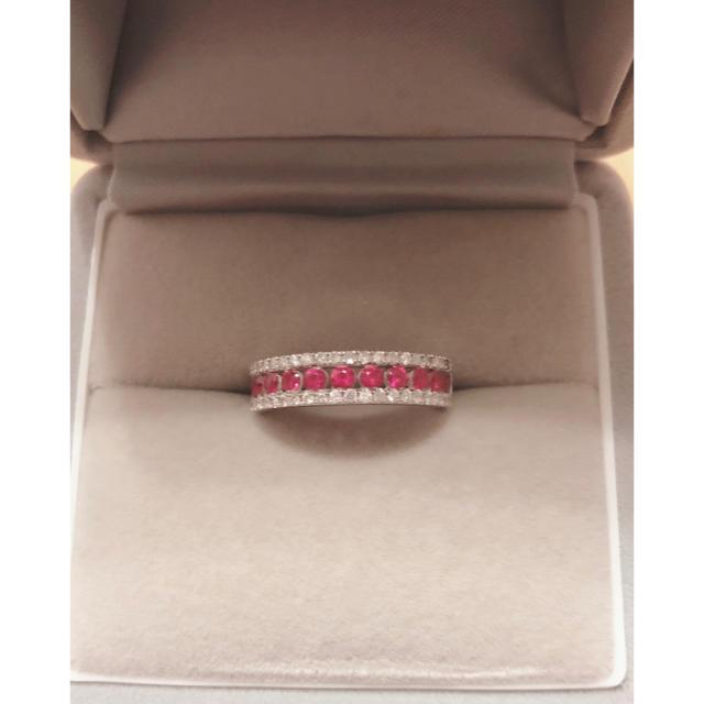 ルビーk18wgリング 指輪 レディースのアクセサリー(リング(指輪))の商品写真