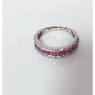 ルビーk18wgリング 指輪