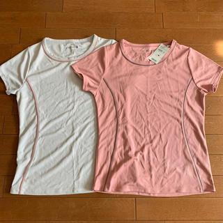 ジーユー(GU)のスポーツクールネックT  L 2枚セット(Tシャツ(半袖/袖なし))