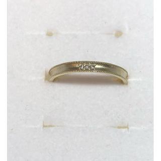 K10YG ミル打ち ダイヤモンドリング 11号(リング(指輪))