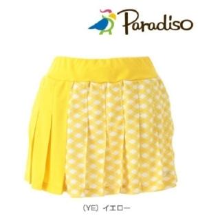 Paradiso - スコート 黄 プリーツ M