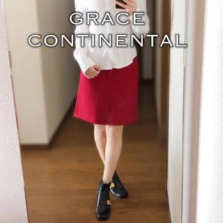 グレースコンチネンタル(GRACE CONTINENTAL)のGRACE CONTINENTAL◆ウール カシミヤ バックフレア スカート(ミニスカート)