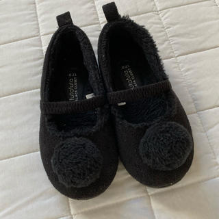 フタフタ(futafuta)のfutafuta BLACK CLOSET★ボア フラットシューズ★17cm(ブーツ)