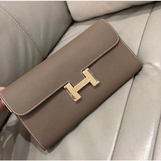 Hermes - エトープ コンスタンス ロング 財布 グレー 長財布 クラッチバッグ