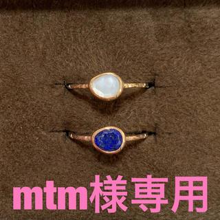 アガット(agete)の【mtm様専用】アガット リング 天然石 2個セット(リング(指輪))
