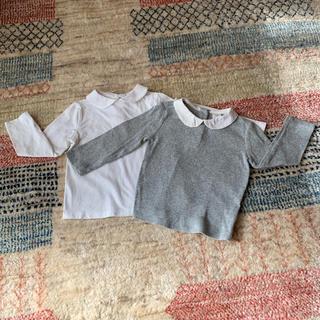 babyGAP - baby Gap&Zara baby ★襟付き長袖カットソー2枚セット