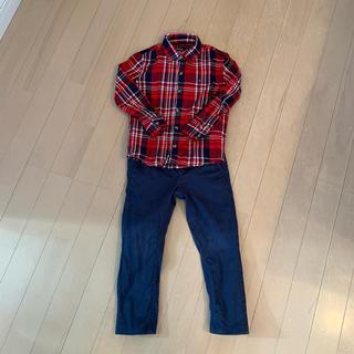 トミーヒルフィガー(TOMMY HILFIGER)のトミーヒルフィガー チェックシャツ&パンツ size 104cm(その他)
