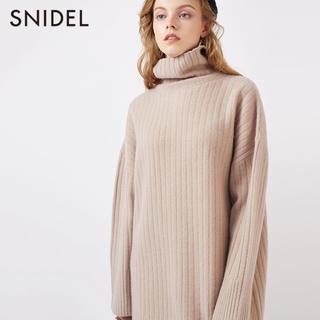 スナイデル(snidel)のSNIDEL♡ウールタートルネックミニニットワンピース(ミニワンピース)