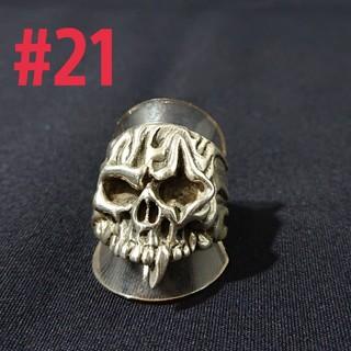 silver925 傷スカルring #21(リング(指輪))