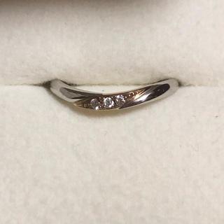Pt900 K18  ダイヤ リング 指輪 6号(リング(指輪))