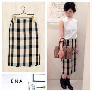 IENA - 【美品】IENA GIMAフランスアヤタイトスカート 38