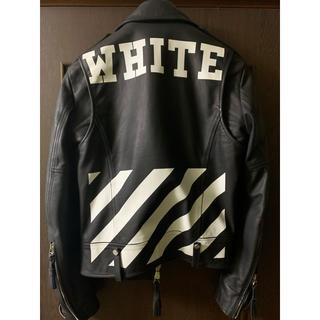 オフホワイト(OFF-WHITE)のoff white バイカージャケット 2015SS(ライダースジャケット)