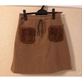 しまむら - ファーポケット付きスカート