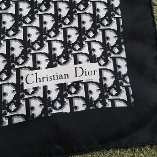 クリスチャンディオール(Christian Dior)のChristian Dior    黒モノグラム柄スカーフ(バンダナ/スカーフ)