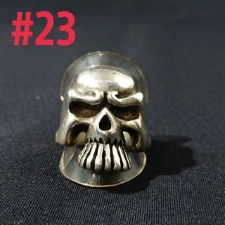 silver925 ビッグスカルring #23(リング(指輪))