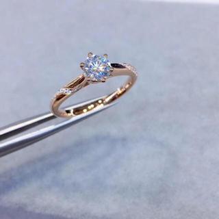 【0.5カラット】輝くモアサナイト ダイヤ k18 リング(リング(指輪))