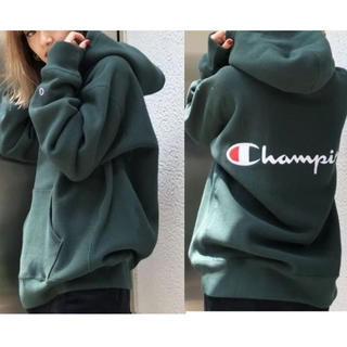 EMODA - 完売品 【Champion】チャンピオンスナップフーディー 別注パーカー
