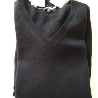 UNIQLO - ユニクロ メンズ XL Vネックセーター 黒