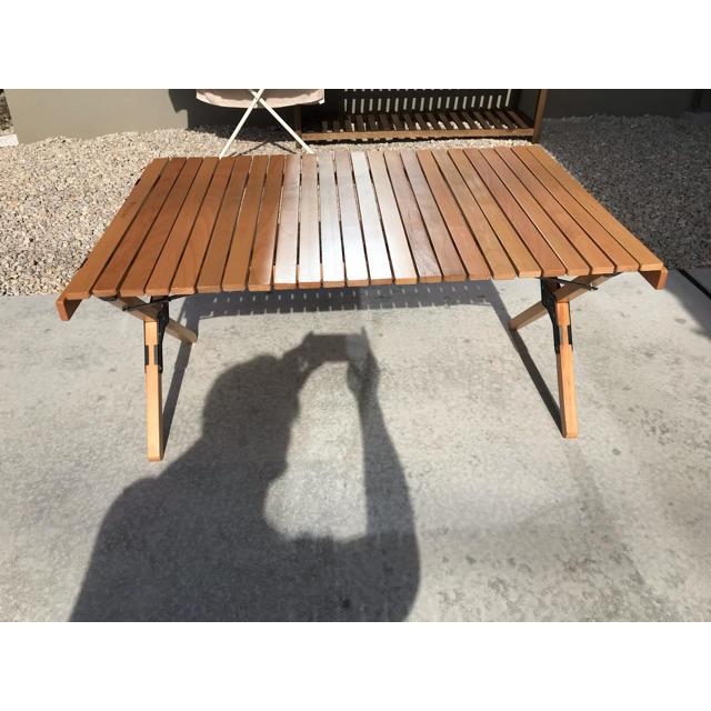 つなぎ様専用ハイランダー ウッドロールテーブル 90 スポーツ/アウトドアのアウトドア(テーブル/チェア)の商品写真