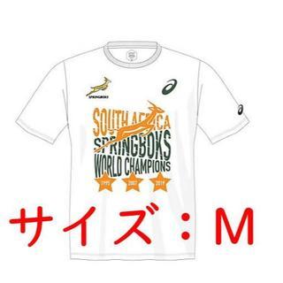 asics - 南アフリカスプリングボクス優勝記念TシャツMサイズラグビー