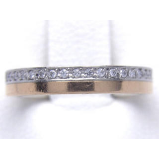 K18ピンクゴールド/PT900 天然 ダイヤ リング(リング(指輪))