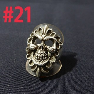 silver925 フレアスカルring #21(リング(指輪))