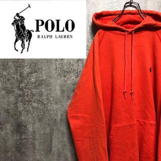 POLO RALPH LAUREN - 【激レア】ポロラルフローレン☆日本製ワンポイント刺繍スウェットパーカー 90s