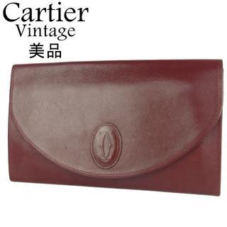 カルティエ(Cartier)の美品 カルティエ ヴィンテージ マスト レザー 薄型 クラッチ セカンド バッグ(クラッチバッグ)