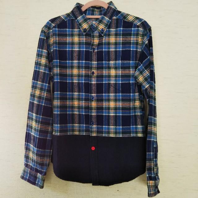 ikka(イッカ)のikka 暖か シャツ 男児150 キッズ/ベビー/マタニティのキッズ服男の子用(90cm~)(ブラウス)の商品写真