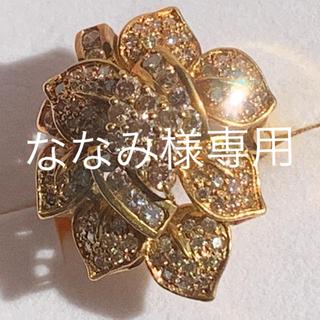K18 14.3g 大振りダイヤリング3ct?難ありです。(リング(指輪))