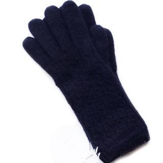 クロエ(Chloe)の新品 三つ編み BK カシミヤ混 クロエ GANTS レディ 手袋 SALE(手袋)