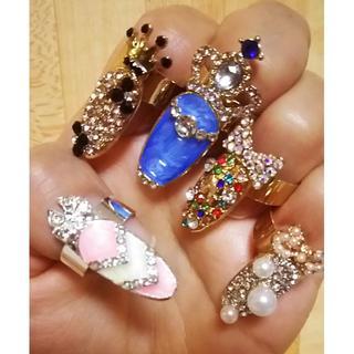 新品◆ネイルリング  5個セット②(リング(指輪))