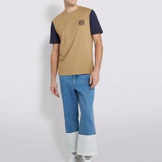 ロエベ(LOEWE)の本物 Loewe ロエベ Tシャツ Mサイズ オリーブ ロゴT(Tシャツ/カットソー(半袖/袖なし))